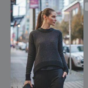 Lululemon Yogi Crew Merino Wool Sweater Hearts
